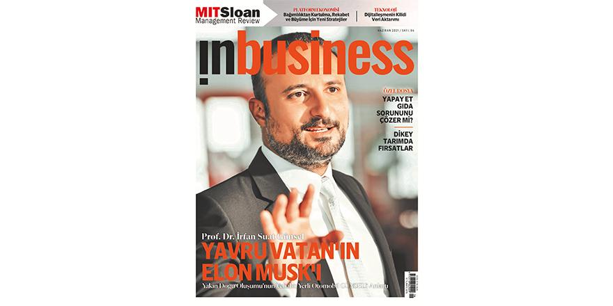İrfan Suat Günsel, InBusiness ekonomi dergisinin kapağında