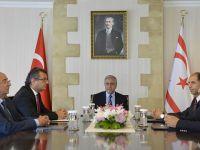 Akıncı'nın hükümetteki parti liderleriyle görüşmesi tamamlandı