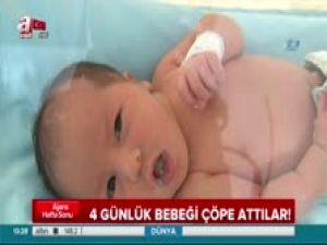 İstanbul'da vahşet! 4 günlük bebeği ağzını bantlayıp çöpe attılar